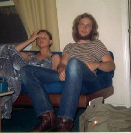 frank aker and sister cat 1972